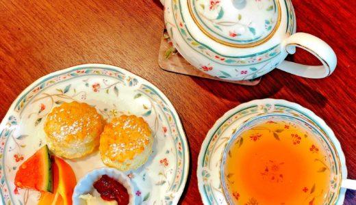 ティールーム「植田ラティス」では、本格的な紅茶と本場スコーンの味が楽しめる!